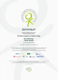 Zertifikat der ZPP (Zentrale Prüfstelle Prävention)
